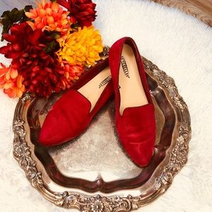 COPY - Seychelles  Red suede loafers